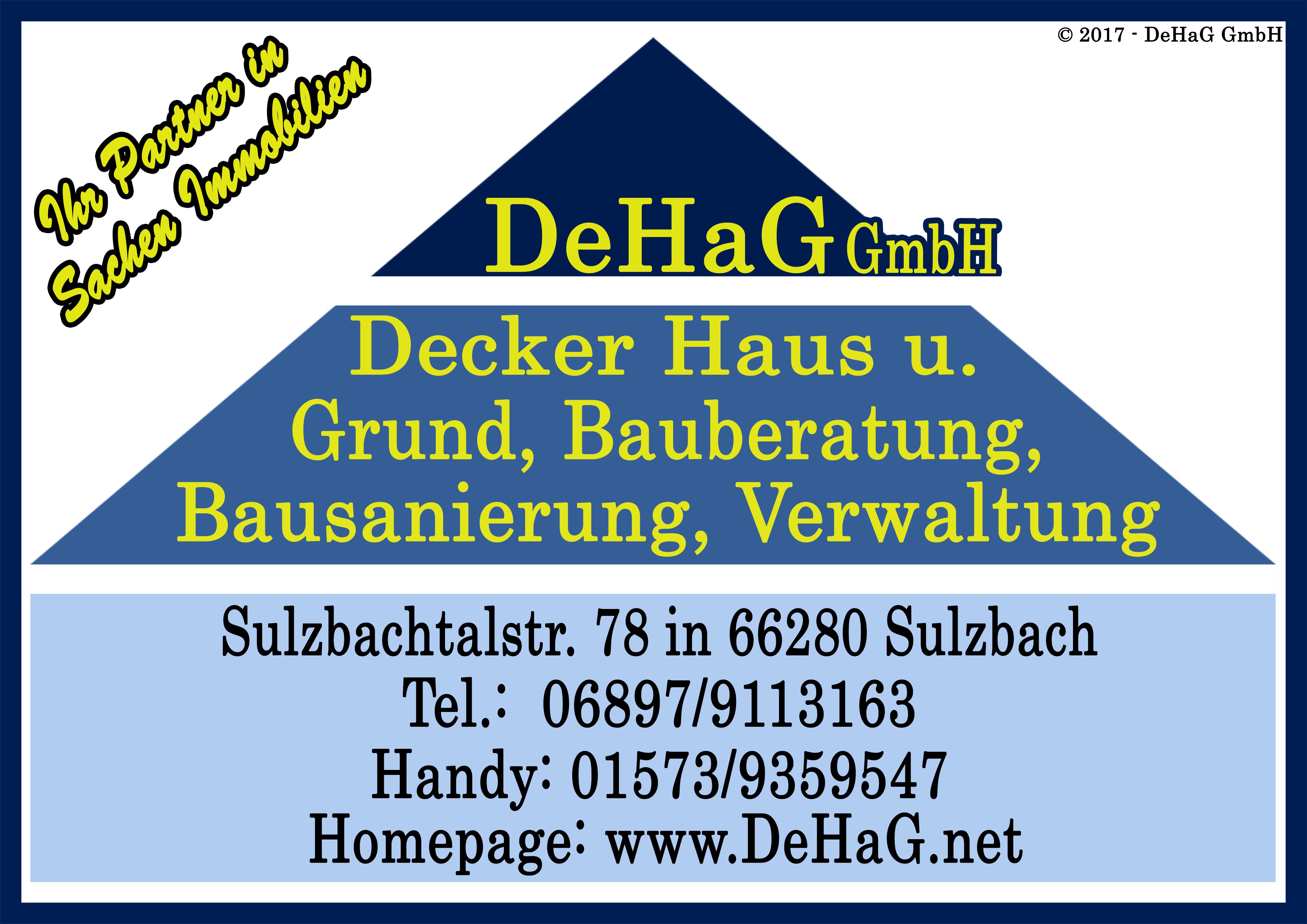 DeHaG GmbH – Decker Haus und Grund.